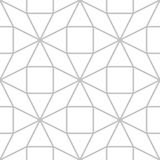 Editable Seamless Geometric Pattern Tile. Pop up 3D Line Art Design in Silver Color Outline Stock Image