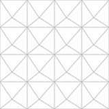 Editable Seamless Geometric Pattern Tile. Simple Pop up 3D Line Art Design with Prism Design Royalty Free Stock Image