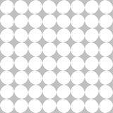 Editable Seamless Geometric Pattern Tile. White Color Irregular Circle in Silver Color Background Stock Image