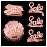 Editable set sprzedaż sztandary dla makeup, kosmetyki Fotografia Royalty Free