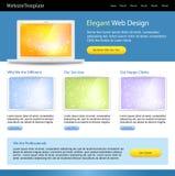 editable site template web Στοκ εικόνα με δικαίωμα ελεύθερης χρήσης