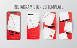 Editable Stories template. Streaming. stock photo