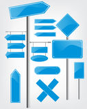 Editable street signs Stock Image