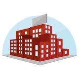 Editable Stylish Abstract Building Illustration Stock Image