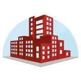 Editable Stylish Abstract Building Illustration Royalty Free Stock Image