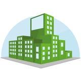 Editable Stylish Abstract Building Illustration Stock Photography