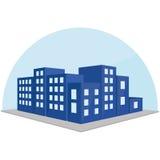 Editable Stylish Abstract Building Illustration Royalty Free Stock Photo