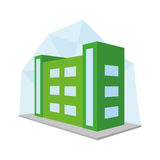 Editable Stylish Abstract Building Illustration Stock Photos