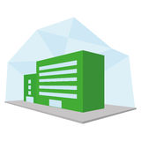 Editable Stylish Abstract Building Illustration Royalty Free Stock Images
