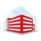 Editable Stylish Abstract Building Illustration Royalty Free Stock Photography