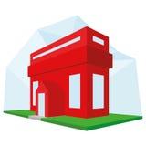Editable Stylish Abstract Building Illustration Royalty Free Stock Photos