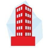 Editable Stylish Abstract Building Illustration royalty free illustration