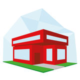 Editable Stylish Abstract Building Illustration Stock Images