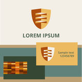 Editable template logo and brand elements. shield Stock Photos