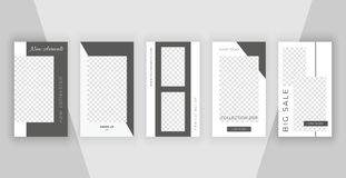 Editable templates for stories. Modern covers design for social media. vector illustration