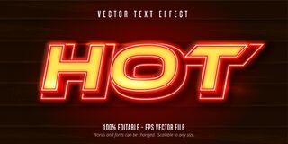 Free Editable Text Effect - Very Hot Style Stock Image - 191196331