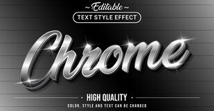 Free Editable Text Style Effect - Chrome Theme Style Royalty Free Stock Images - 200504309