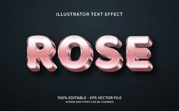Free Editable Text Style Effect. Typography Illustration Template Stock Photos - 193531003