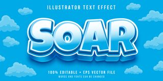 Free Editable Text Style Effect. Typography Illustration Template Stock Photos - 193531493