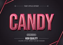 Free Editable Text Style Effect. Typography Illustration Template Royalty Free Stock Photos - 193531778