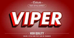Free Editable Text Style Effect - Viper Theme Style Stock Photography - 193113132