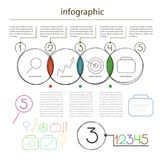 Editable universel d'Infographics des cercles - placez pour le vecteur de l'information Photo libre de droits