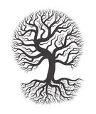 Black tree with root. royalty free illustration