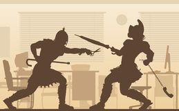 Office gladiators illustration Stock Images