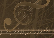 Editable vector music background Stock Photography