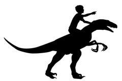 Boy riding raptor Stock Photos