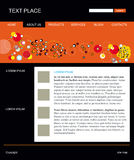 Editable vector web site template Stock Photography