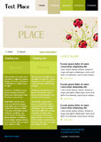 Editable vector web site template. Web site template layout webpage Stock Image