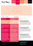 Editable vector web site template. Web site template layout webpage vector Royalty Free Stock Photo