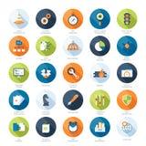 Editable vectorreeks Stock Foto