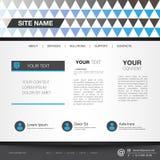 Editable Vektorformat der Websiteschablone Stockbild