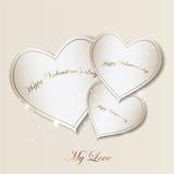 Editable Vektorillustration der Valentinstag-Karte Lizenzfreie Stockfotografie