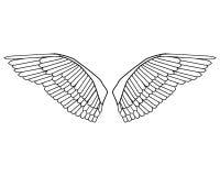Editable Vogel wings Vektor Lizenzfreies Stockfoto