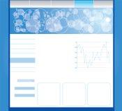 Editable Web-Schablone Lizenzfreie Stockfotografie