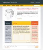 Editable web site template stock illustration