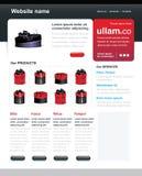 Editable web site template Royalty Free Stock Photos