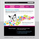 Editable web site template Stock Images