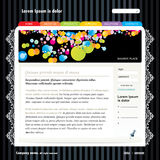 Editable web site template Stock Photo