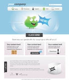 Editable web template. Editable web 2.0 template with icons Royalty Free Stock Photography