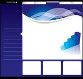 Editable web template Stock Image