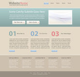 Editable website design template. Vintage color theme - vector Royalty Free Stock Photography