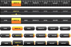 Editable website navigation template - black and w. Hite color vector illustration