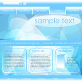 Editable website template Stock Images