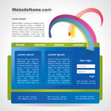 Editable  website template Royalty Free Stock Photos