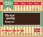 Editable website template Stock Photo