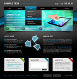 Editable Website Template 4. Color variant 5 (Blue on Dark Stock Photo